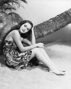 Dorothy Lamour donning a sarong. They made each other famous.