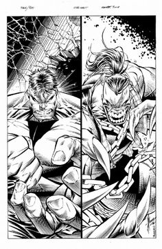 Dale Keown- Hulk vs. Pitt #1, Inside Cover, Marvel Crossover, in KEVINMcCONNELL's Dale Keown Comic Art Gallery Room - 729901