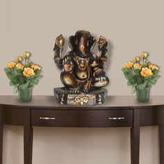 A traditional Ganpati statue, from our new range of Ganesha products on the auspicious occasion of Ganesh Chaturthi    Find more great designs and home decor ideas on www.gloob.in