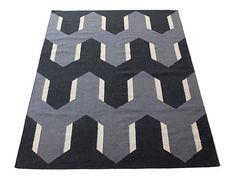 Bev Hisey woven wool rug