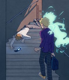 """ohwwhuv: """" """" modmad: """" sandflakedraws: """"//scrapped scene i still wanted to get out of my system """" """" (Context of these all) Teruki Hanazawa had waited on a frost-fringed bench for over an hour. He'd called Reigen at six, right as the. Psycho Pass, Psycho 100, Mob Psycho, Jojo's Bizarre Adventure, Manga Anime, Anime Art, Character Art, Character Design, Mob Physco 100"""