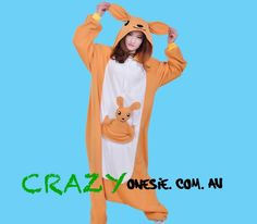 Kangaroo Onesie. 25% off EVERYTHING in store. Free Express Delivery Australia-wide. Visit www.crazyonesie.com.au for more details. Visit our Facebook page https://www.facebook.com/crazyonesie for exclusive competitions and discounts