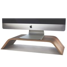 Walnut Mac stand $79 Lots of other desk items at this company Grovemade