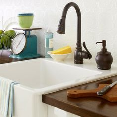 Click through for 25 facts about Kitchen Faucets: http://www.bhg.com/kitchen/sink/25-facts-about-kitchen-faucets/?socsrc=bhgpin120713faucetfacts