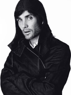 cillian murphy, eyes to die for, black & white