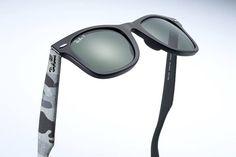 Urban Camouflage el nuevo estilo del Ray-Ban Wayfarer Ray Ban Wayfarer, Oakley Sunglasses, Mirrored Sunglasses, Ray Bans, Urban, Camo, Style, Life, Tejido