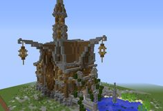 Medieval Fantasy Town Hall - GrabCraft - Your number one source for MineCraft buildings, blueprints, tips, ideas, floorplans!
