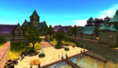 Visit this location at Bright Haven Sponsored by KittyCatS in Second Life Fantasy, Second Life, Woodland, Fairy Tales, Bright, Mansions, Street, House Styles, Manor Houses