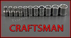 CRAFTSMAN HAND TOOLS 11pc 14 Dr 6pt SAE ratchet wrench socket set *** Want additional info? Click on the image.