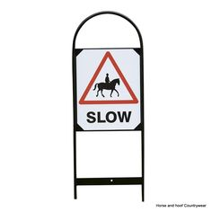 Stubbs Horse Slow Sign Set S63 Pack of 2 For roadside driveway and event usage these target ever growing traffic concerns Labels on both sides Height