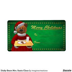 Dinky Bears Mrs. Santa Claus Label