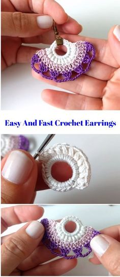 Watch This Video Beauteous Finished Make Crochet Look Like Knitting (the Waistcoat Stitch) Ideas. Amazing Make Crochet Look Like Knitting (the Waistcoat Stitch) Ideas. Crochet Jewelry Patterns, Crochet Earrings Pattern, Crochet Bracelet, Crochet Accessories, Handmade Accessories, Handmade Jewelry, Jewelry Accessories, Fast Crochet, Crochet Gratis