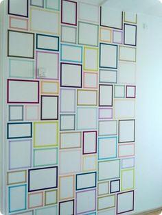 washi tape wall project