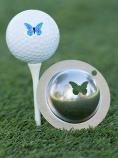 "Tin Cup ""FlutterBy"" Golf Ball Stencil - Mrs Golf - Ladies Golf Apparel, Shoes, Accessories -  #mrsgolf"