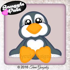 "Just a quick note to make sure everyone saw these TEN new ""Snuggle Palz"" that were released yesterday by Cuddly Cute Designs! Paper Piecing Patterns, Felt Patterns, Penguin Images, Penguin Coloring, Royal Icing Transfers, Ornaments Design, Punch Art, Cute Baby Animals, Cute Designs"