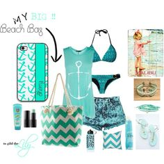 """""""My BIG beach bag - anchors away !"""" by togildthelily on Polyvore.   Outfits for summer.  Outfits for teens. #swimwear #beach @togildthelily"""