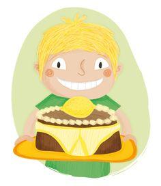 Lemon Cake... #food #illustration