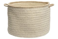 """24"""" Natural Style Wool Basket, Canvas - Colonial Mills - One Kings Lane :: $119"""
