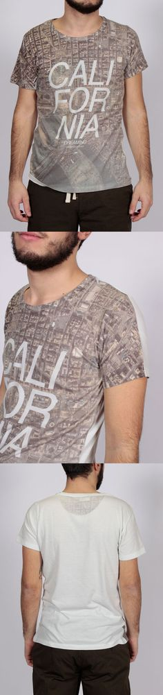 GRAPHIC T-SHIRT FABRICS: JERSEY 50% COTTON 50% POLY / MODEL HEIGHT'S 175 CM WEARING SIZE M FIT REGULAR / CODE DU 13109