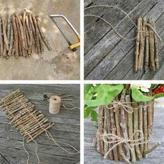 Cute, attach sticks to jar vase or for candle