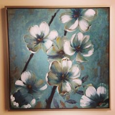 Canvas Flower Art - Bed Bath and Beyond