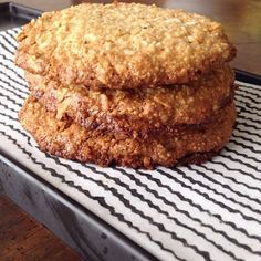 Coconut and Cashew Quick Cookies (ground cashew or almond meal, shredded coconut, coconut oil, honey, vanilla, sea salt)