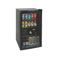 Under Counter Drinks Display Chiller Cooler Fridge Shop Glass Door 88L M195418 | eBay