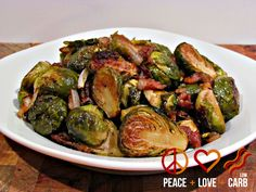 Balsamic Roasted Brussels Sprouts with Bacon Check out some of my other favorite low carb vegetable side dish recipes: Skillet Roasted Bacon Brussels Sprouts with Garlic Parmesan Cream Sauce Cheesy Garlic Creamed Spinach Oven Roasted Cabbage Wedges Garlic Parmesan Roasted Cauliflower Paprika Roasted Radishes Sign up for updates to receiveone week FREE of mylow carb...