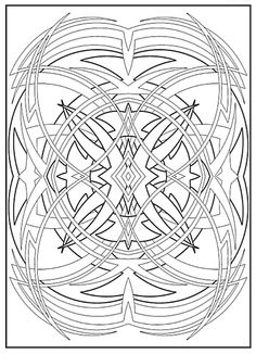 Creative Haven Abstract Designs Coloring Book, Dover Publications