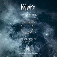 Mars Symbol in Astrology - Alexandra Leenderts - Astrology party Zodiac Planets, Astrology Planets, Mars Astrology, Mars Symbol, Moon Projects, Social Media Search, Magic Symbols, Moon Signs, Practical Magic