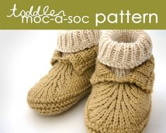 Toddler MocaSoc PDF PATTERN  1 2 and 3 years by BEKAHknits on Etsy, $5.99