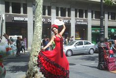 Visitor attraction in Barcelona: Las Ramblas. You can get your photo taken here with one of the living statues, but be careful of pickpockets! (AFAR Media)