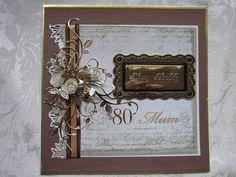 80th birthday card 80th Birthday Cards, Special Birthday, Die Cut Cards, Happy B Day, Milestone Birthdays, Card Designs, Creative Cards, Irene, Fun Things