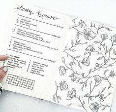 Cleaning List Organization Doodles Flowers Lists List Habit Tracking
