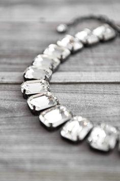 vintage chunky rhinestone necklace via justcallmegrace