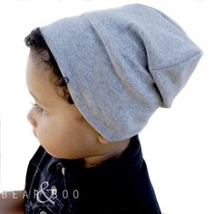 Slouchy toddler beanies, fedoras and more for your littles at Bear & Boo!
