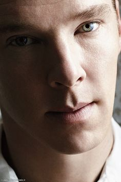Benedict Cumberbatch - I don't want to sound weird here, but he has really incredible eyes. Very intense stare. -- You don't sound at all, because I think the same thing.