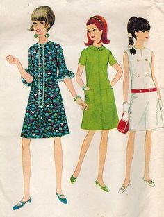 McCall's 8727 Vintage 60s French Dart DRESS