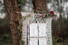 Intricate Macrame wedding seating chart Photo by Forester Fotógrafos