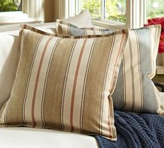 Conrad Stripe Pillow Covers | Pottery Barn