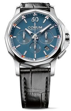 Corum – Admiral's Cup Legend 42 Chrono. The iconic curves gave way to more sophisticated contours.