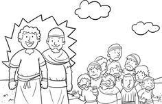 12 Spies - Bible Coloring Pages | Nicaragua | Bible coloring pages ...