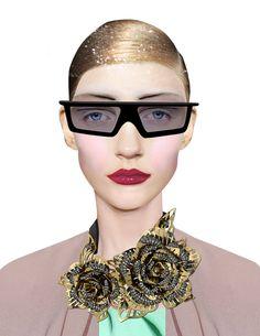 Harpers Bazaar collage by Dina Lynnyk, via Behance