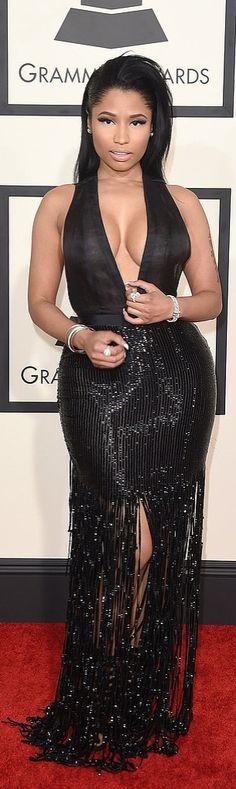 Nicki Minaj in Tom Ford at the Grammys.