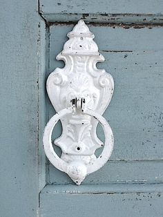 Cat Iron Door Knocker, Vintage Espresso, Once Upon a Time, French Decor, Front Door. $32.50, via Etsy.
