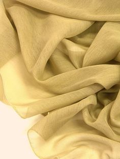 Pale goldenrod sheer curtains fabric 118 wide drop by Eleptolis, $20.00