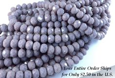 24 Purple Opaque Glass Beads Faceted Large Rondelle Abacus 10x8mm - 24 pc - G6010-PF24 by allearringsandsuppli on Etsy