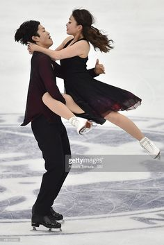 Maia Shibutani and Alex Shibutani of the USA compete in the Ice dance free dance…