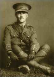 """Wilfred Owen, whose WWI poems are tragic, striking, strangely lovely, with a peculiar irony, died so young, so talented, one week before the war's end. From Dulce et Decorum est: """"Bent double like old beggars under sacks, Knock-kneed, coughing like hags, we cursed through the sludge"""" and later """"Dim, through the misty panes and thick green light, As under a green sea, I saw him drowning."""""""