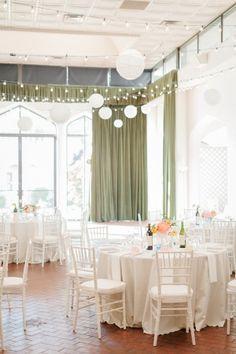 White and Peach Wedding Reception